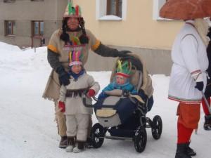 Indiánská rodinka
