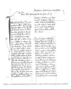 První zpráva z 1348
